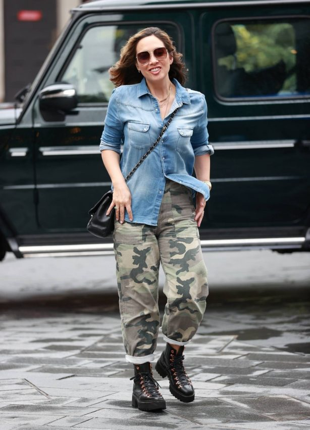 Myleene Klass - In camouflage and utility boots in London