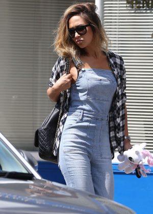 Myleene Klass in Jeans out in North London