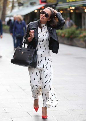 Myleene Klass in Long Dress - Out in London