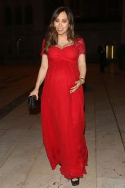 Myleene Klass in Red Dress at Royal Opera House Gala in London