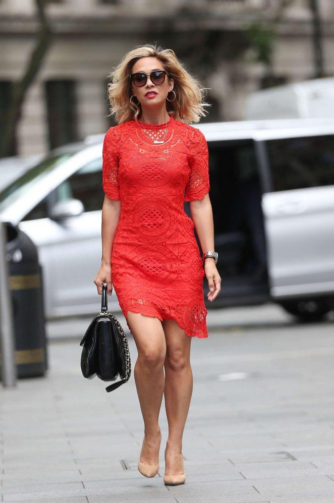 Myleene Klass in Red Dress -01