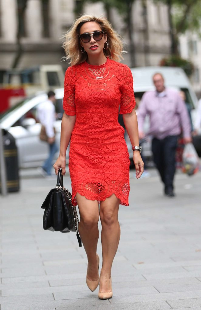 Myleene Klass in Red Dress -02
