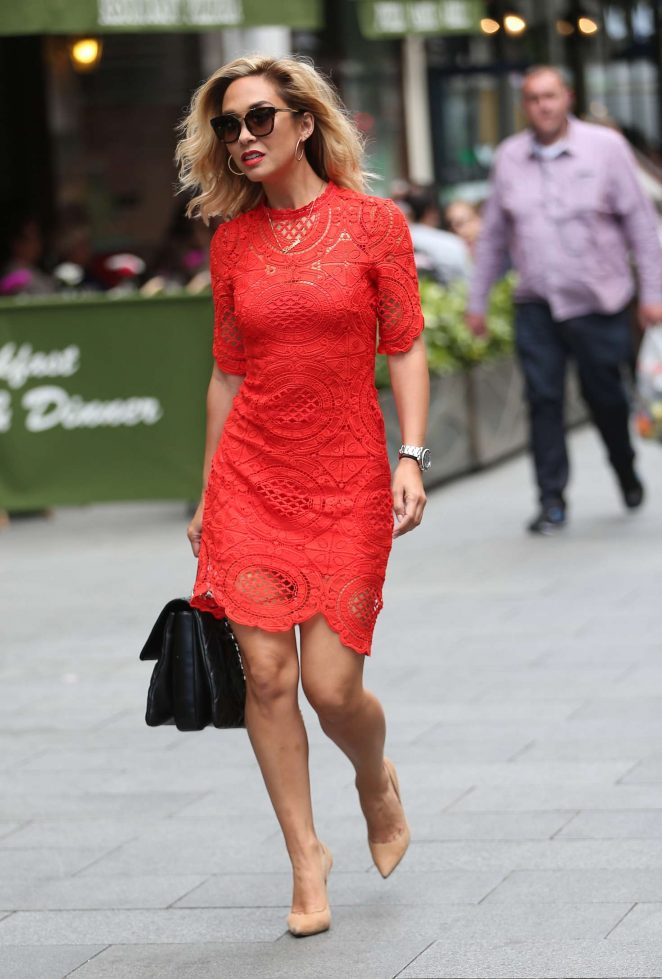 Myleene Klass in Red Dress -06