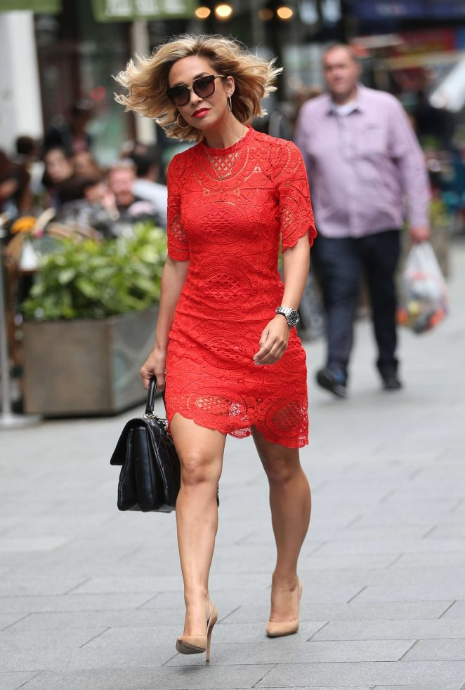 Myleene Klass in Red Dress -08