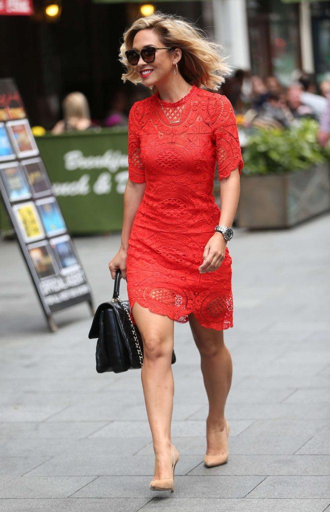 Myleene Klass in Red Dress -09