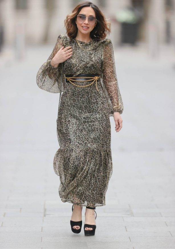 Myleene Klass - In summer dress at Smooth Radio Studios in London