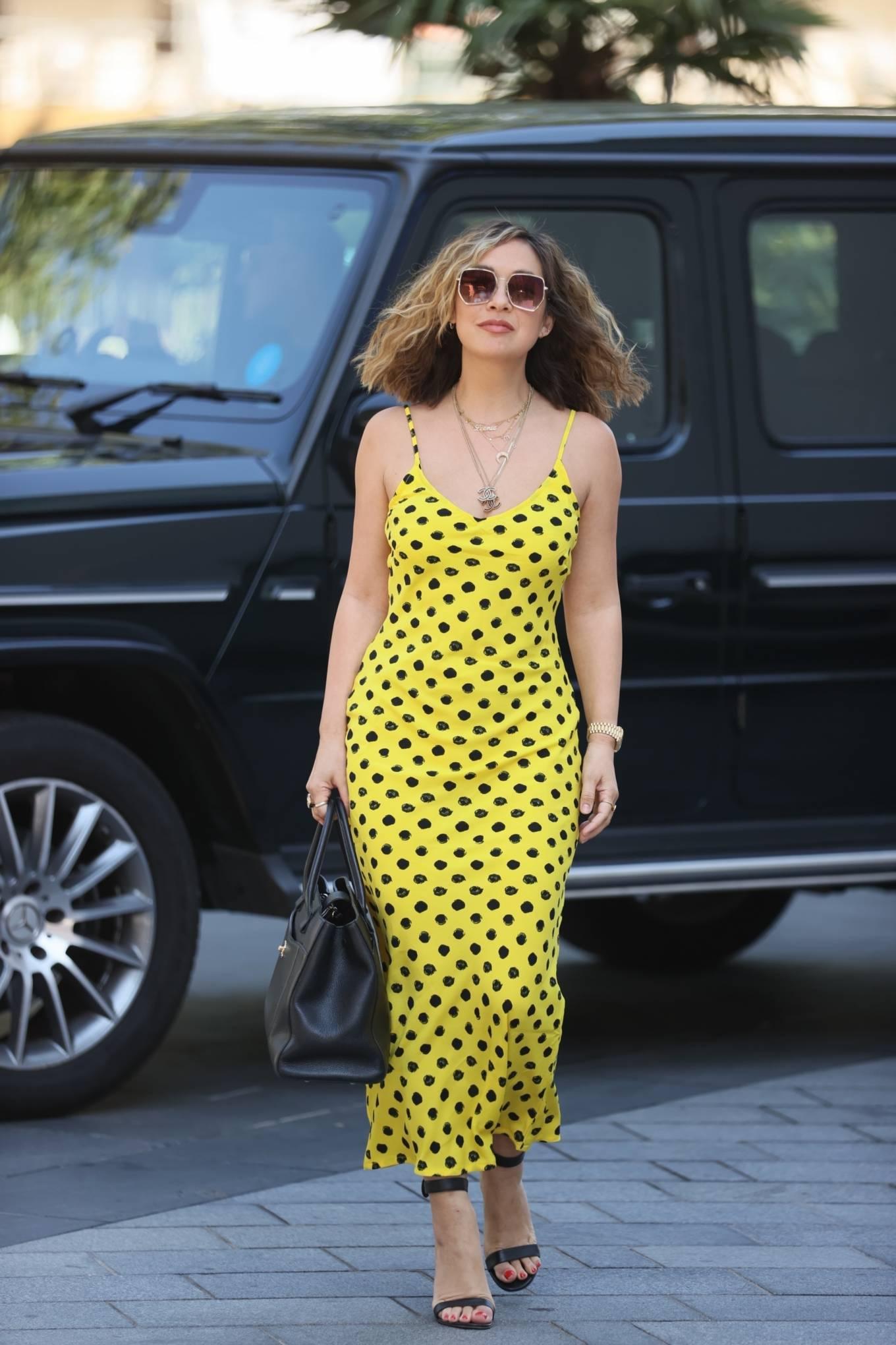 Myleene Klass 2020 : Myleene Klass – In yellow polka dot dress in London-17