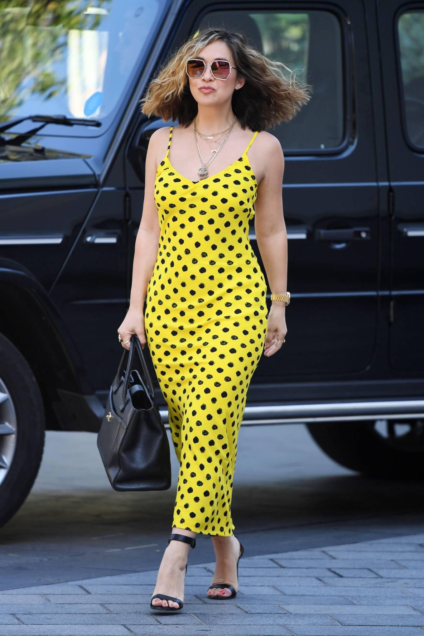 Myleene Klass 2020 : Myleene Klass – In yellow polka dot dress in London-22