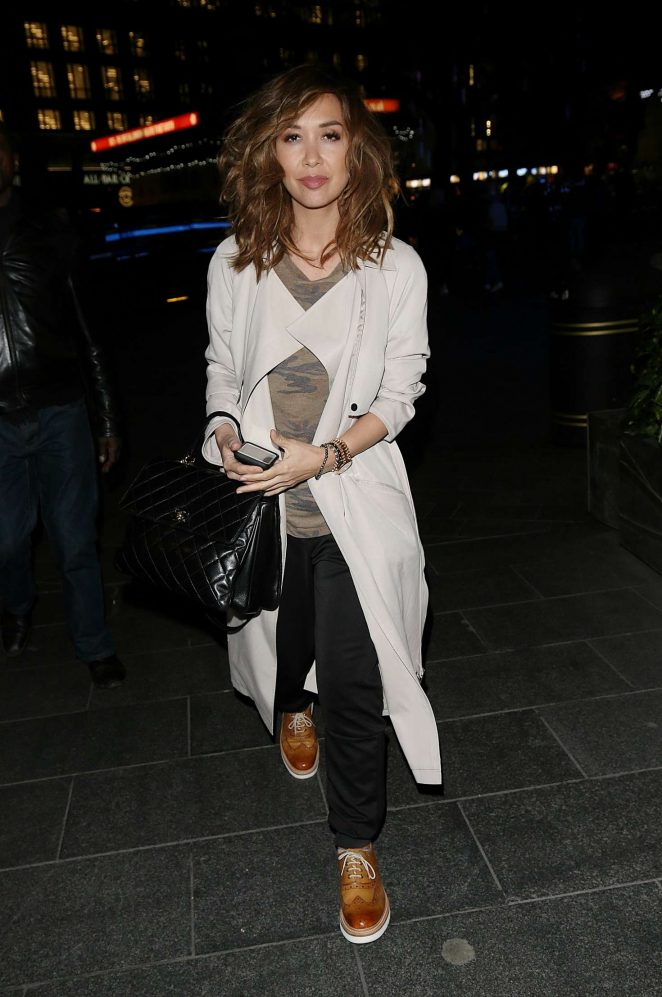 Myleene Klass - Leaves Global Radio in London