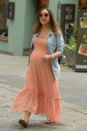 Myleene Klass - Leaving Global Radio Studios in London