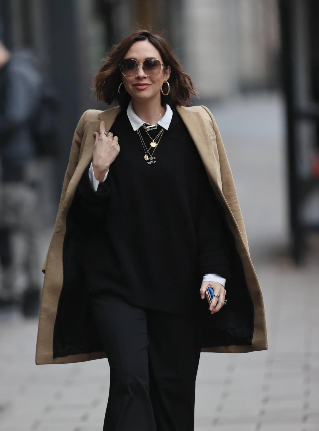 Myleene Klass - Looking chic in black in London