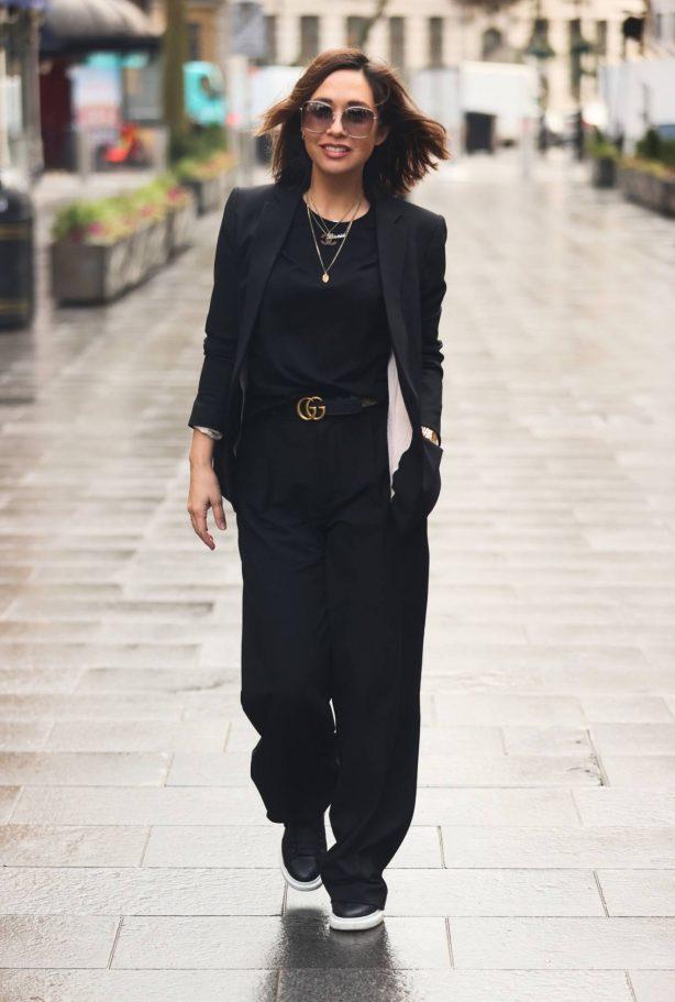 Myleene Klass - Looks chic in trouser suit in London