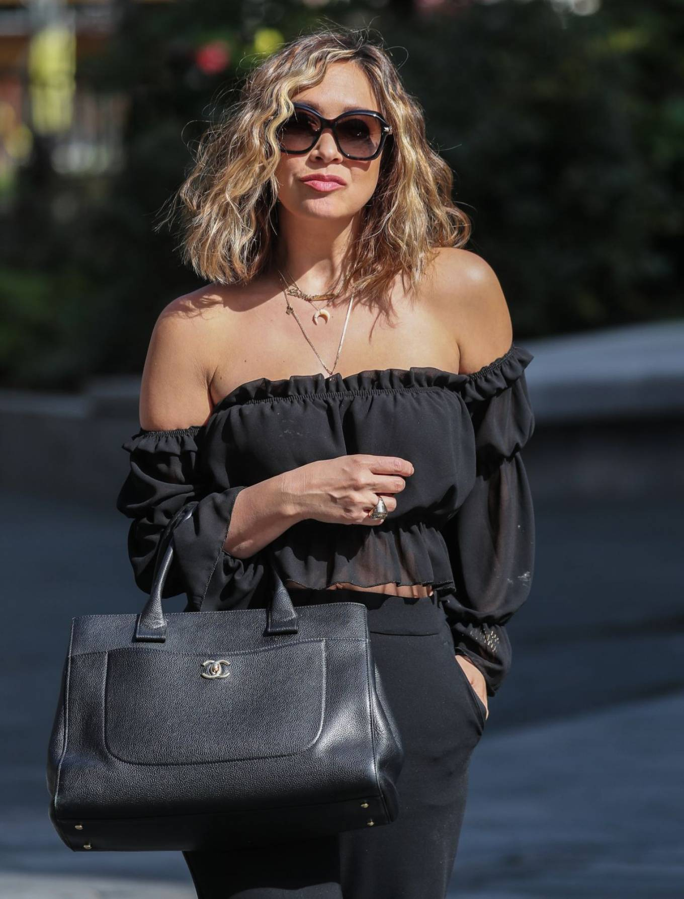 Myleene Klass - Looks classy while arriving at Global Studios in London