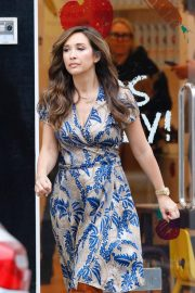Myleene Klass - On set for An Advert For The Kids Cafe in Notting Hill
