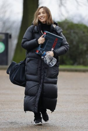 Myleene Klass - Seen after training in chilly London