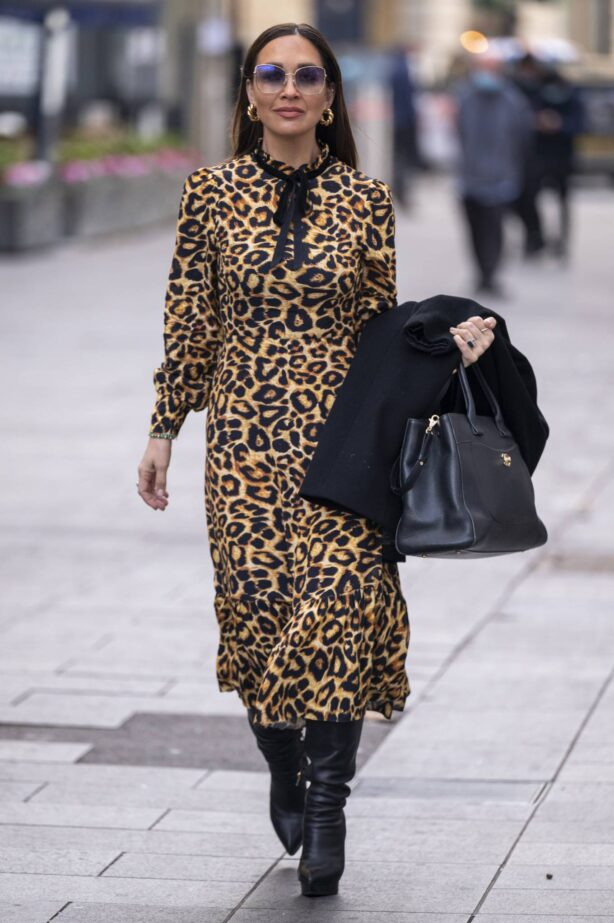 Myleene Klass - Seen arriving at Global Studios in London