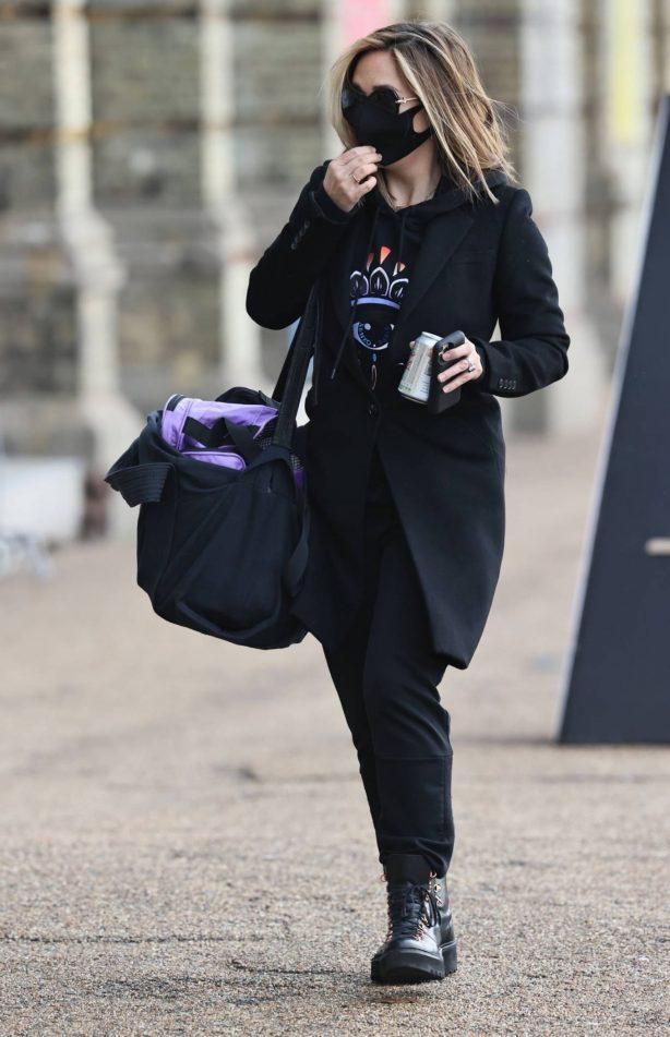 Myleene Klass - Seen arriving at the Dancing On Ice Studios in London