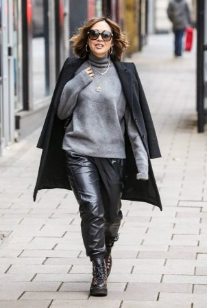 Myleene Klass - Seen arriving at the Global Radio Studios in London