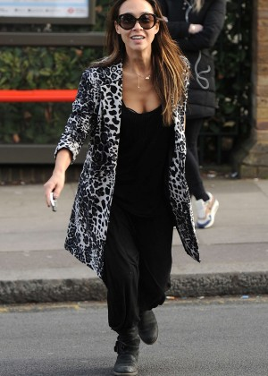 Myleene Klass Street Style in London