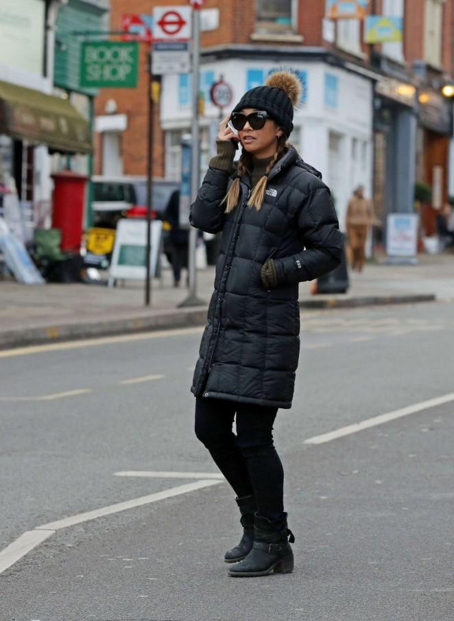 Myleene Klass Street Style - Out in London