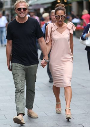 Myleene Klass with Simon Motson out in London