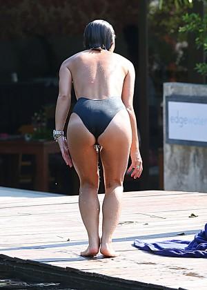 Mylene Klass in Black Swimsuit -07