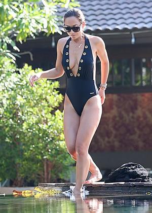 Mylene Klass in Black Swimsuit -09