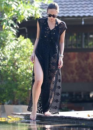 Mylene Klass in Black Swimsuit -14