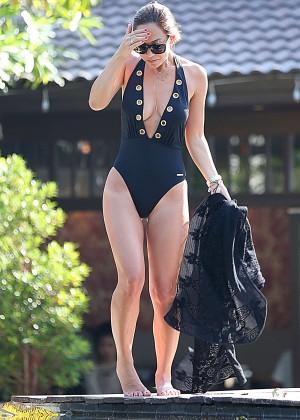 Mylene Klass in Black Swimsuit -32