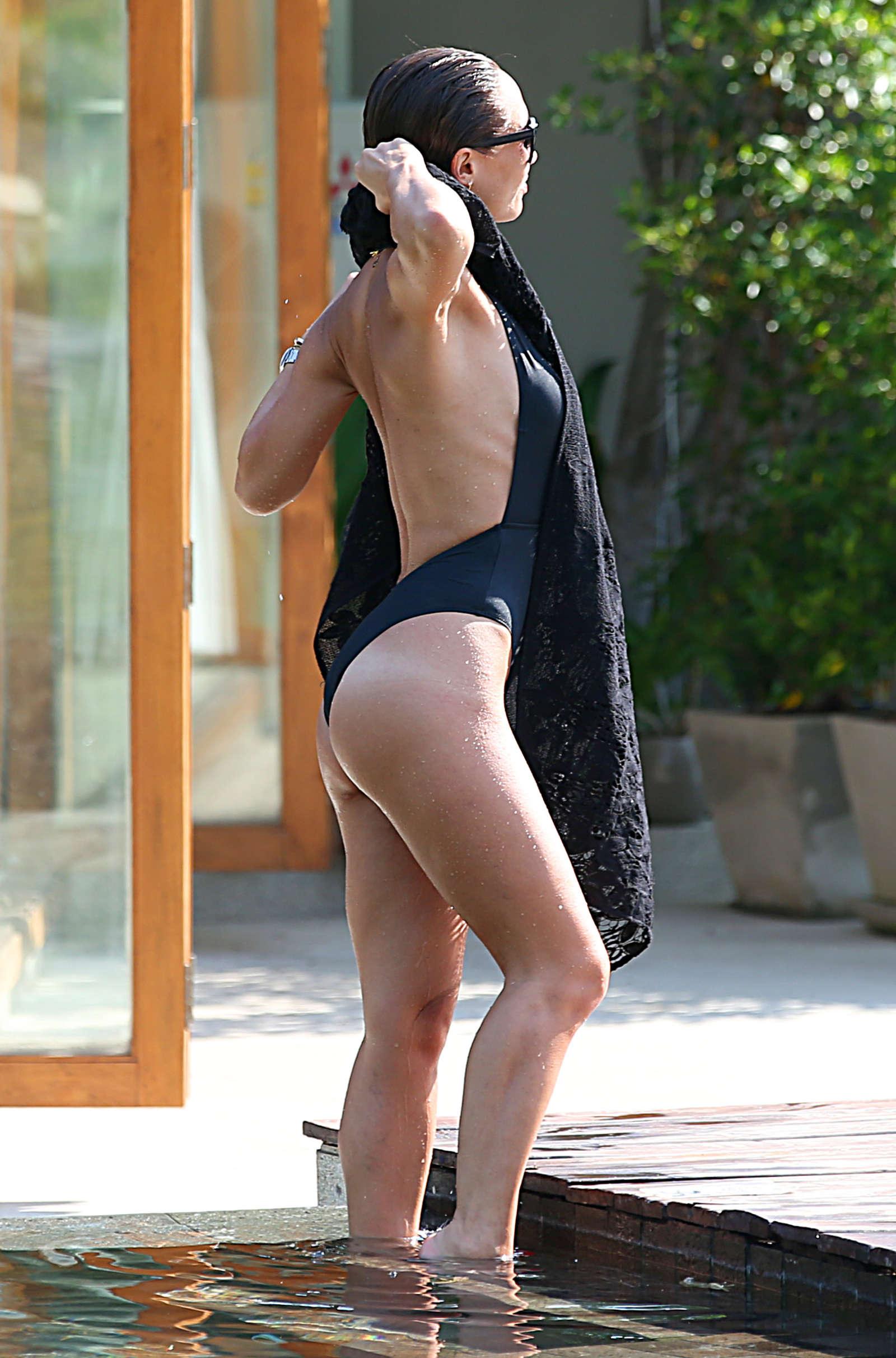 Mylene Klass in Black Swimsuit -34