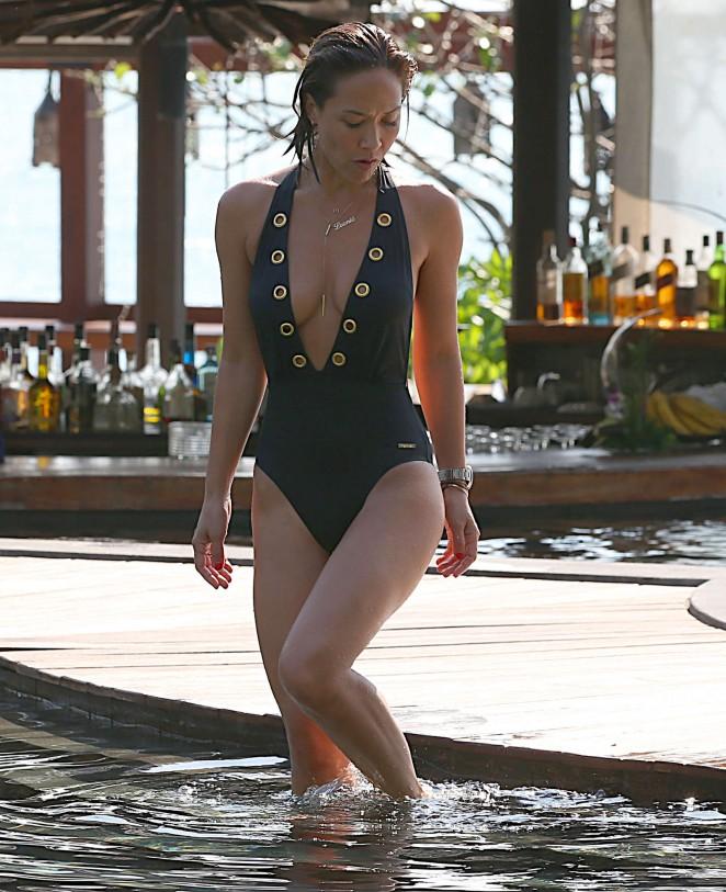Myleene Klass 2016 : Mylene Klass in Black Swimsuit -37