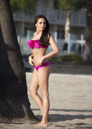 Nadia Forde in Pink Bikini -17