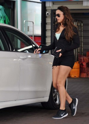 Nadia Forde in Shorts out in Dublin