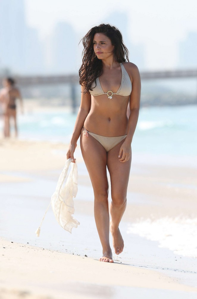 Nadia Forde in Bikini on the beach in Dubai