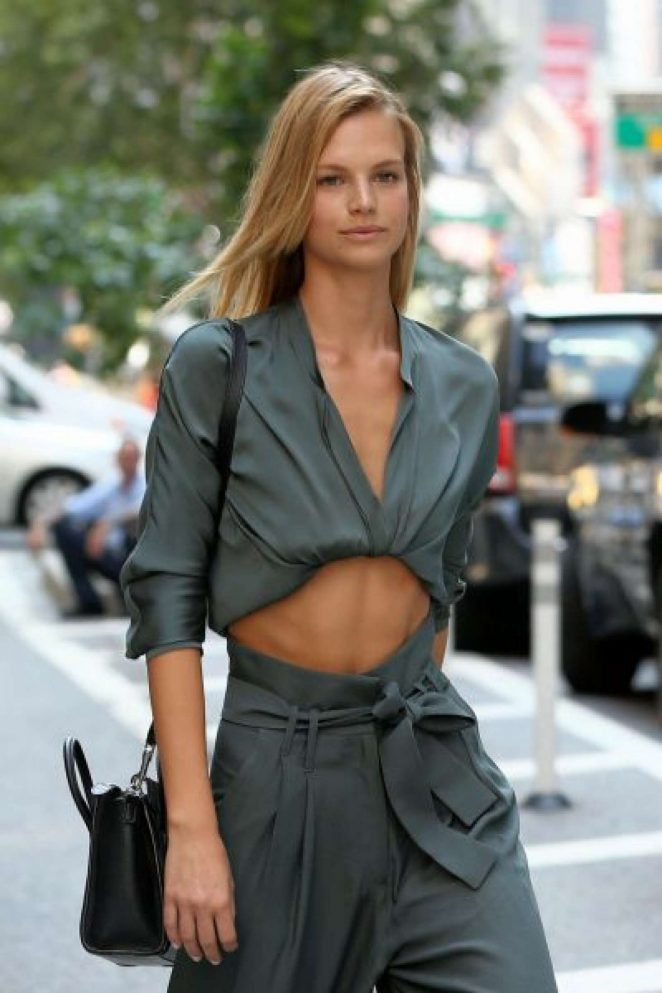 Nadine Leopold - Arrives at Victoria's Secret Auditions in New York