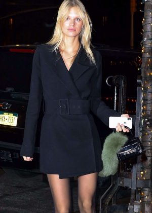 Nadine Leopold - Heads to The Bowery Hotel in New York
