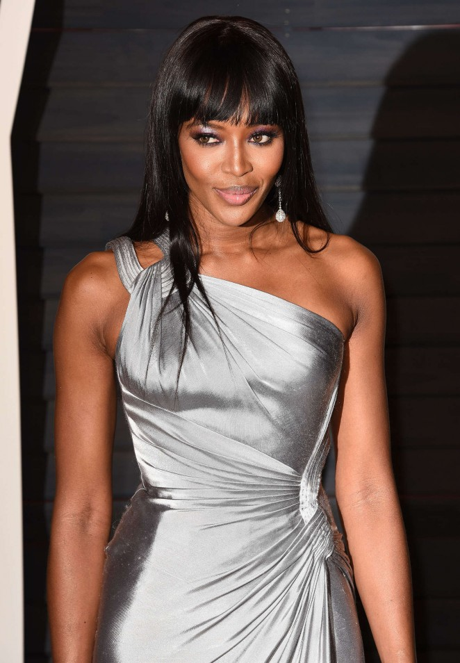 Naomi Campbell 2016 Vanity Fair Oscar Party In Beverly Hills