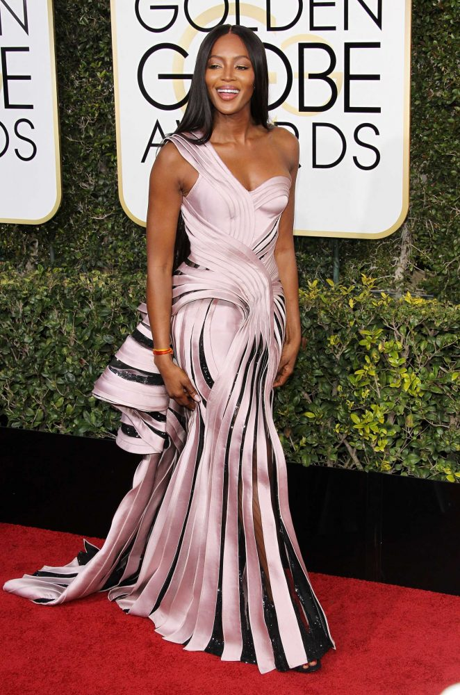 Naomi Campbell - 74th Annual Golden Globe Awards in Beverly Hills