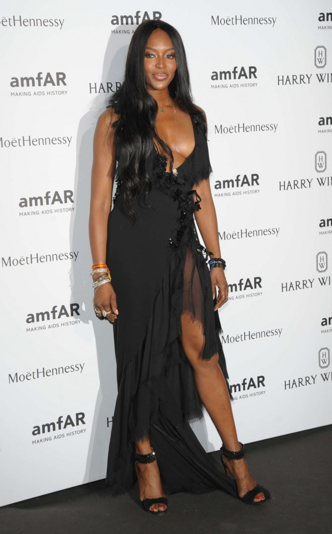 Naomi Campbell - amfAR Dinner 2015 in Paris