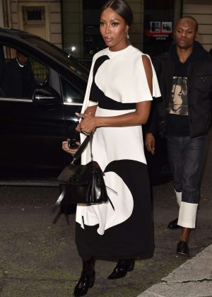 Naomi Campbell - Arrives at the Vogue Party in Paris