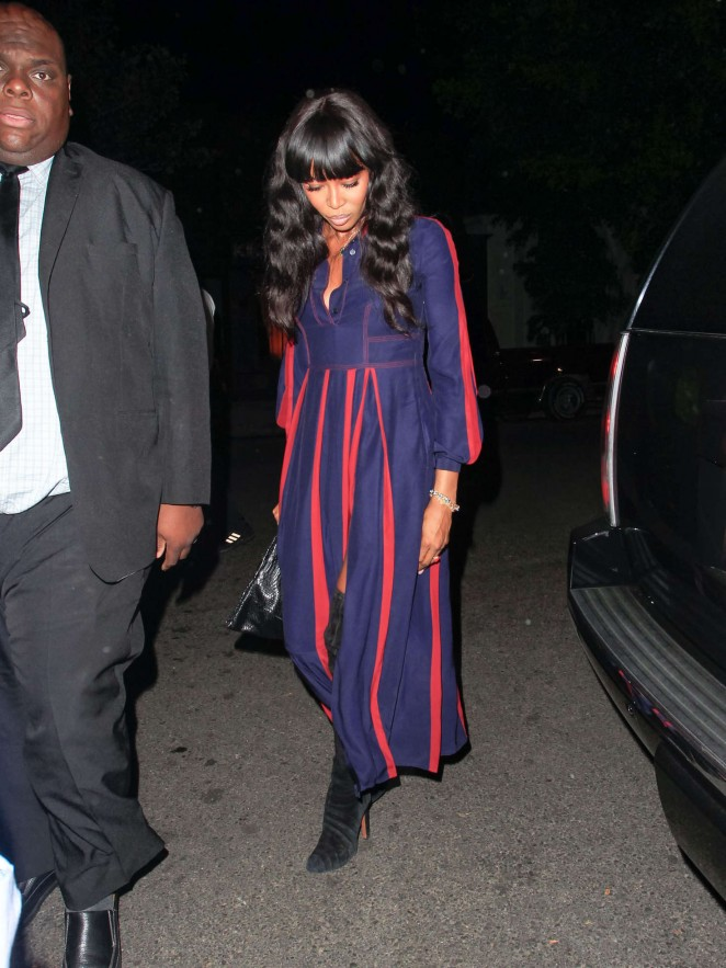 Naomi Campbell at Fig and Olive in Los Angeles