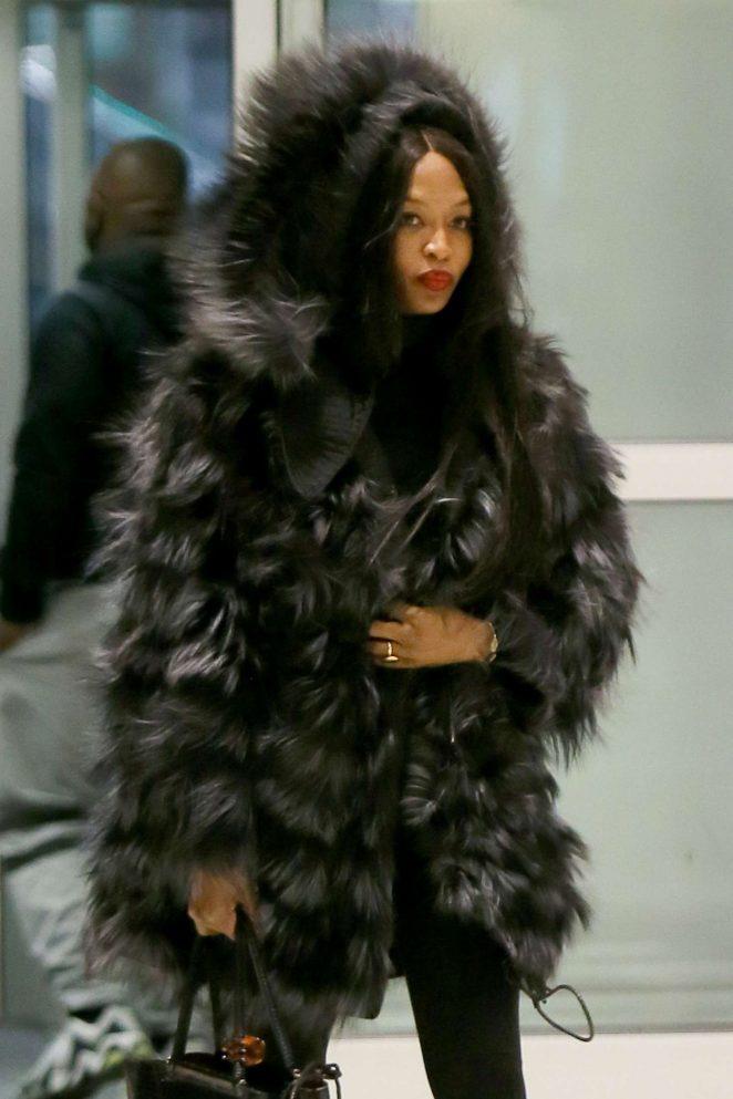 Naomi Campbell at JFK Airport in NYC