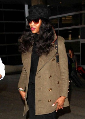 Naomi Campbell at LAX Airport in LA