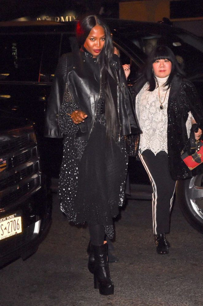 Naomi Campbell at The Bowery Hotel in New York