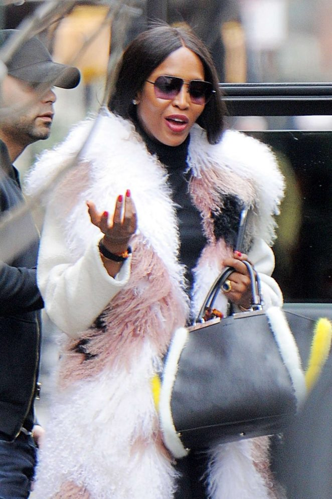 Naomi Campbell at the Weinstein Company Offices in Tribeca