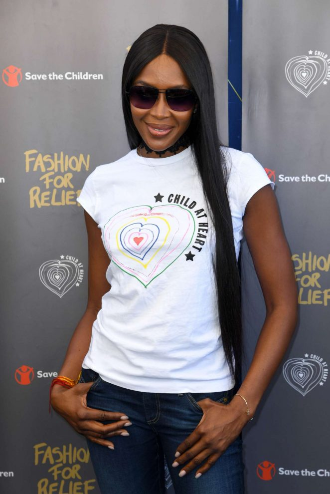 Naomi Campbell - Fashion For Relief Photocall at 70th Cannes Film Festival