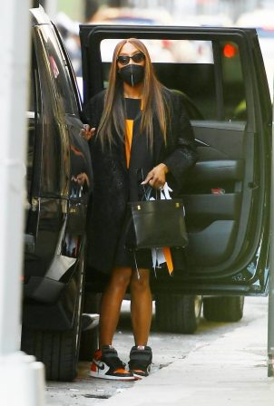 Naomi Campbell - In a dress in New York