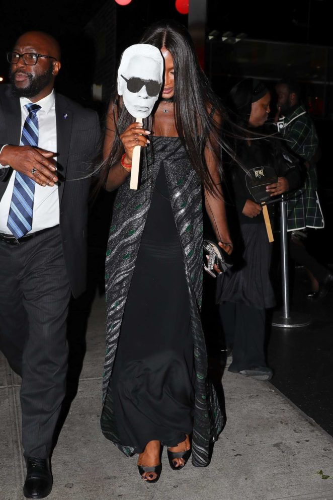 Naomi Campbell - Leaving the V Magazine dinner in New York