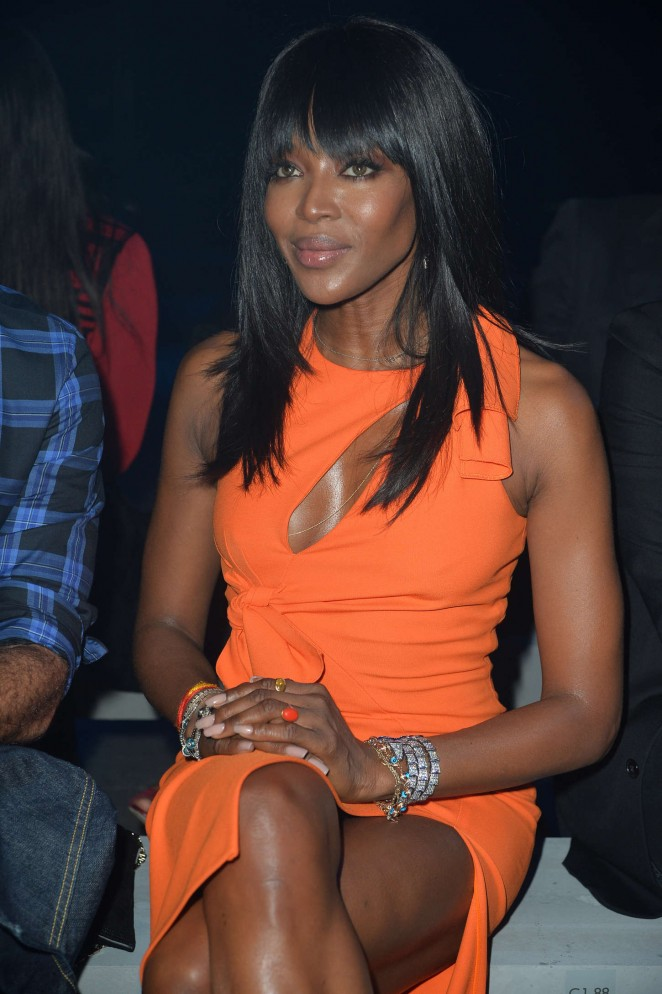 Naomi Campbell - Moschino Fashion Show SS 2015 in Milan