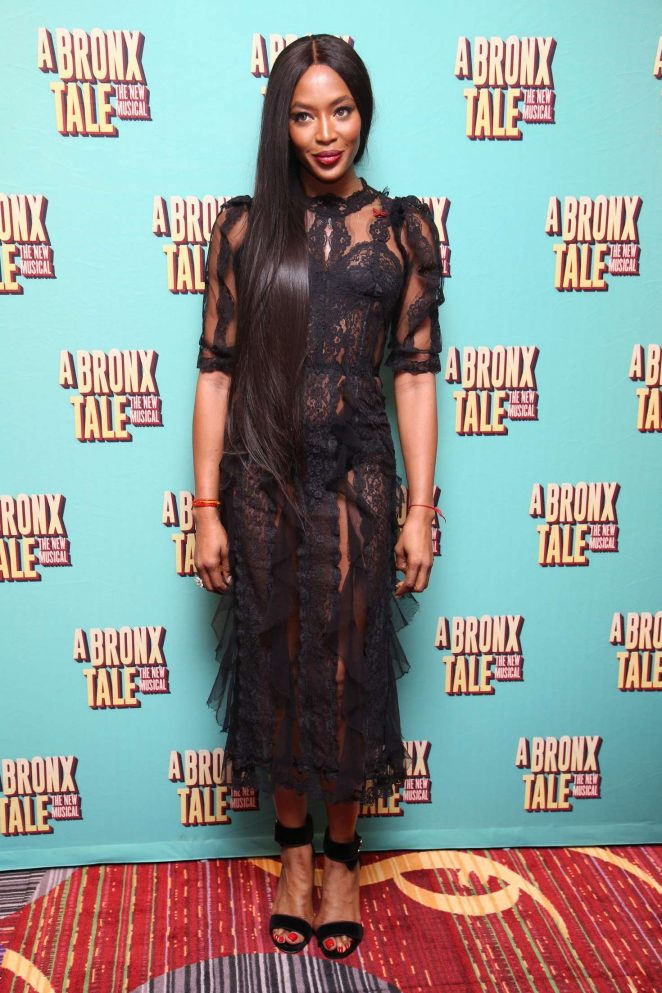Naomi Campbell: Opening night of A Bronx Tale -01